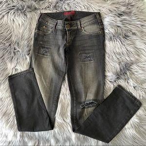 REWASH distressed skinny jeans